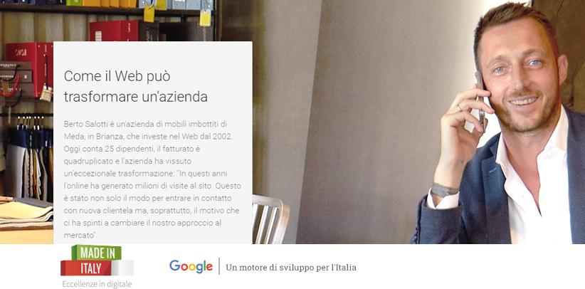BertO dans le nouveau projet Made in Italy Excellences en numérique avec Google