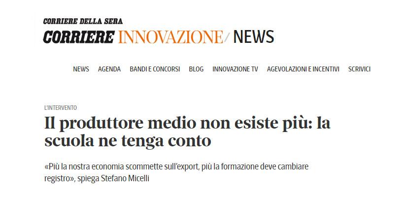 BertO sur le Corriere Innovazione