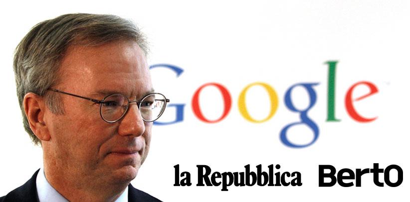 Eric Schmidt et Berto sur la Repubblica