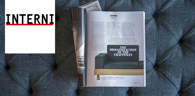 Le canapé Meda sur la revue INTERNI