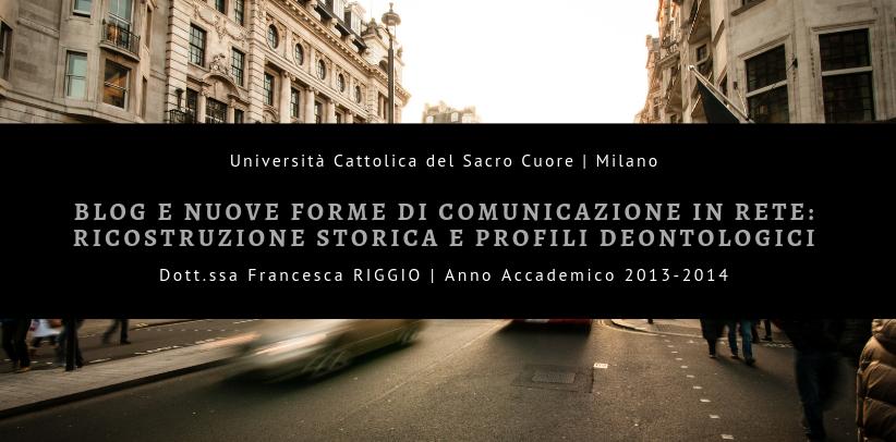 Blog ameublement et communication: le cas étude BertO dans le mémoire de maitrise de la doct.sse Riggio