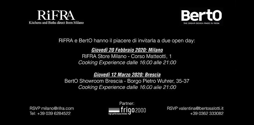 BertO & RiFRA: Open day a Milano