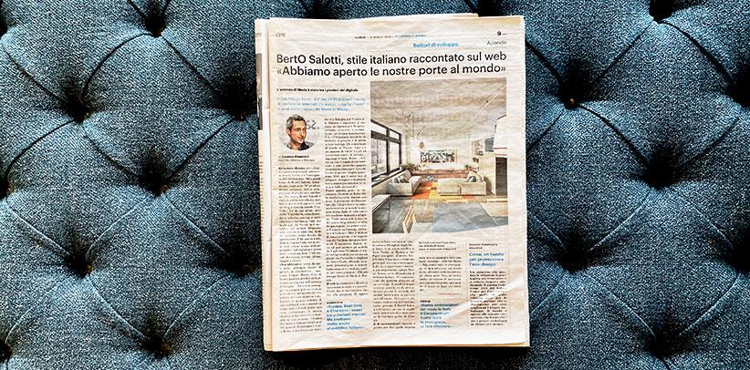 Interview à Filippo Berto dans Il Giorno
