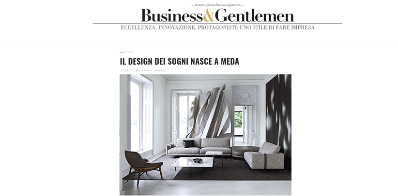 Le design Made in Meda de BertO sur le site Business&Gentlemen