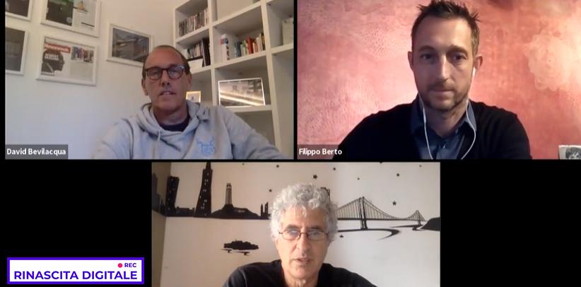 Filippo Berto participe à la causerie en direct de Rinascita Digitale avec David Bevilacqua et Roberto Bonzio