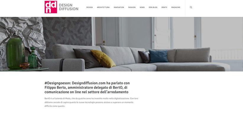 Design et nouvelles technologies: interview de Filippo Berto sur DDN