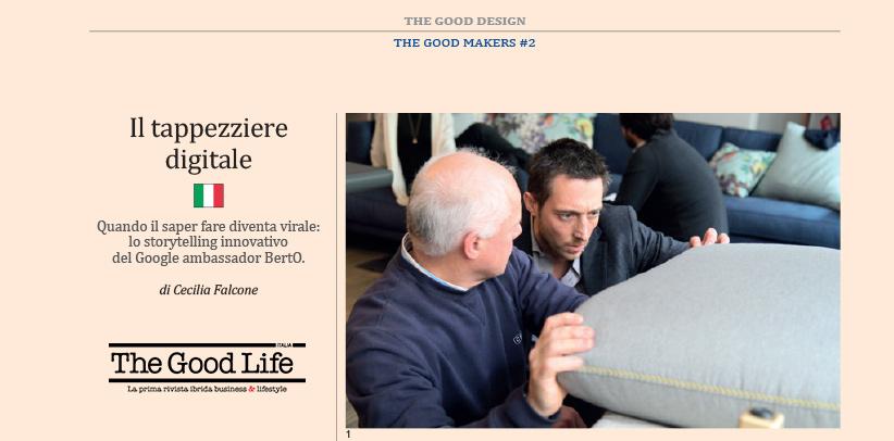 Filippo Berto est le tapissier numérique qui, selon la revue The Good Life Italia