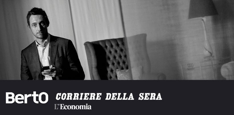 interview à filippo berto dans l'encart économie du corriere della sera