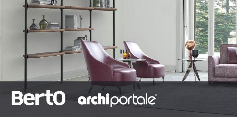 fauteuil patti et bibliothèque ian berto sur archiportale