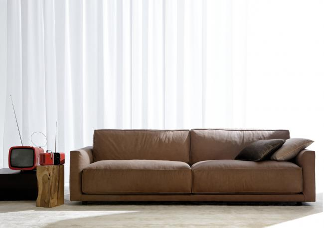 canap cuir ribot berto salotti. Black Bedroom Furniture Sets. Home Design Ideas