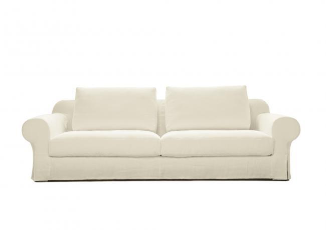 canap en lin avec assise profonde berto shop. Black Bedroom Furniture Sets. Home Design Ideas