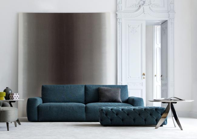 Canap monocoque johnny en tissu berto salotti for Foto salotti moderni